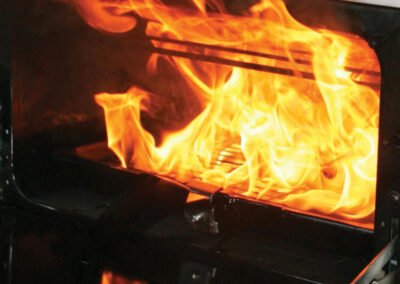 Library image of a similar grill fire